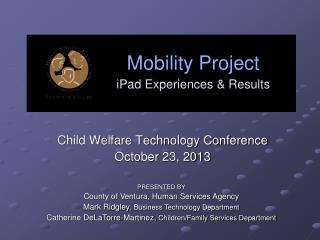 Mobility Project iPad Experiences & Results