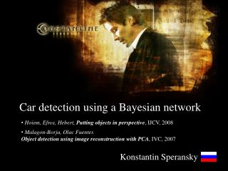 Car detection using a Bayesian network