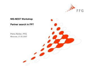 NIS-NEST Workshop Partner search in FP7