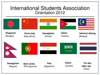 International Students Association Orientation 2012