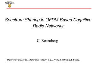 Spectrum Sharing in OFDM-Based Cognitive Radio Networks