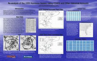 Re-analysis of the 1935 Hurricane Season Using COADS and Other Historical Accounts