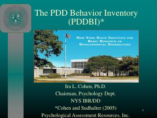 The PDD Behavior Inventory (PDDBI)*