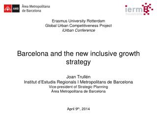 Contents: Introduction Barcelona 1986-2013:  economy and society