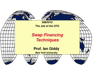 Swap Financing Techniques
