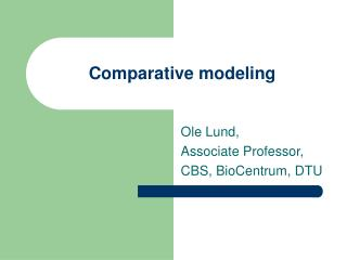 Comparative modeling