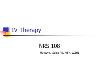 IV Therapy