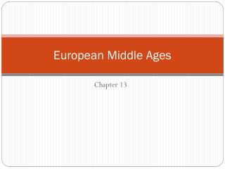 European Middle Ages