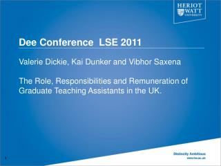 Dee Conference  LSE 2011