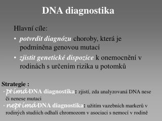 DNA diagnostika