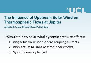 Simulate how solar wind dynamic pressure affects:  magnetosphere-ionosphere coupling currents,