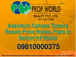 Assotech Celeste Towers Resale Price Noida, Flats in Sector-