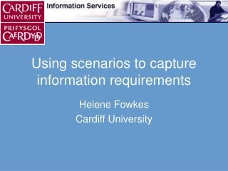 Using scenarios to capture information requirements