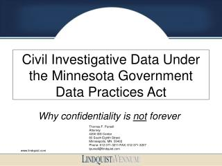 Civil Investigative Data Under the Minnesota Government Data Practices Act