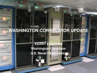 WASHINGTON CORRELATOR UPDATE