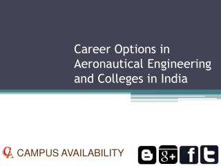 Career Options in Aeronautical Engineering and Colleges in I