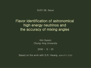 Flavor identification of astronomical  high energy neutrinos and  the accuracy of mixing angles