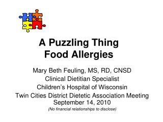 A Puzzling Thing Food Allergies