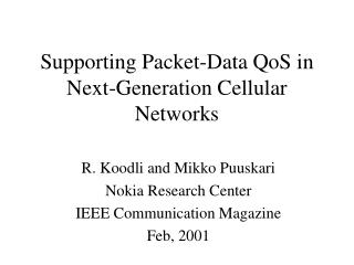Supporting Packet-Data QoS in Next-Generation Cellular Networks