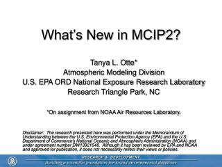 What's New in MCIP2?