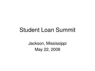 Student Loan Summit