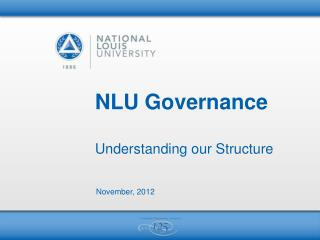 NLU Governance Understanding our Structure