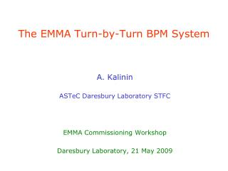 The EMMA Turn-by-Turn BPM System