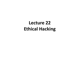 Security   Ethical Hacking