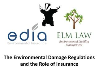 The Environmental Damage Regulations and  the  Role of Insurance