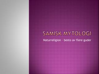 Samisk mytologi