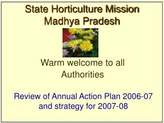 State Horticulture Mission  Madhya Pradesh
