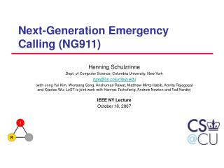 Next-Generation Emergency Calling (NG911)