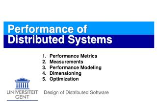 Performance of Distributed Systems