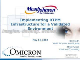 Implementing RTPM Infrastructure for a Validated Environment May 14, 2003