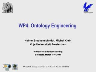WP4: Ontology Engineering
