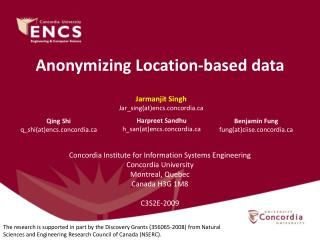 Anonymizing Location-based data