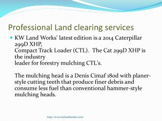 Professional Land clearing services | Forestry Mulching