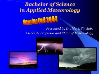 Bachelor of Science  in Applied Meteorology