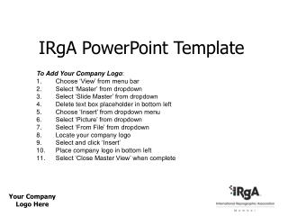 IRgA PowerPoint Template