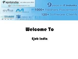 Ejobindia Offers Software Training With Great JOB Opportunit