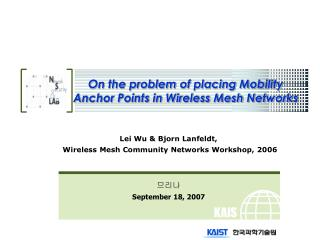 On the problem of placing Mobility Anchor Points in Wireless Mesh Networks