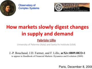 How markets slowly digest changes in supply and demand