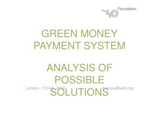 GREEN MONEY PAYMENT SYSTEM
