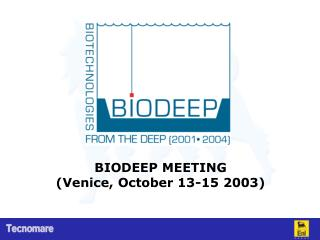 BIODEEP MEETING (Venice, October 13-15 2003)
