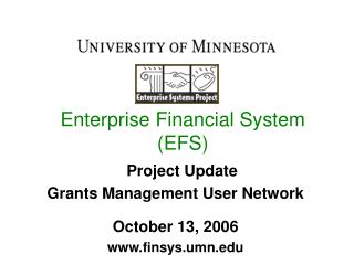 Enterprise Financial System (EFS)