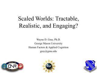 Scaled Worlds: Tractable, Realistic, and Engaging?