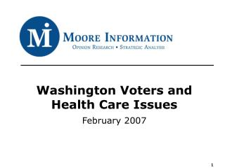 Washington Voters and Health Care Issues