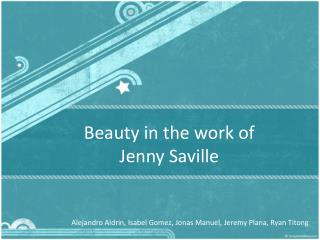 Beauty in the work of Jenny Saville