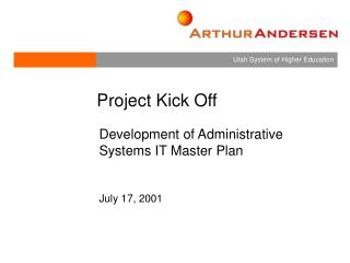 Development of Administrative Systems IT Master Plan