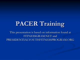 PACER Training